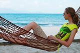 Relax in hammock