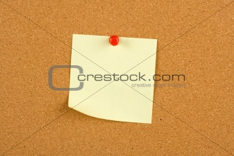 A Yellow Post Note on a Board