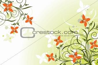 Floral grunge backgrounds, vector