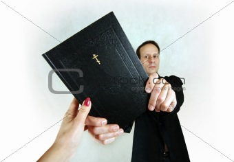 Man with bible
