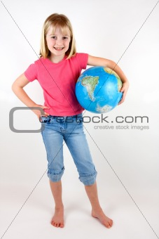 Girl with Globe