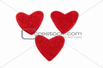 Three red hearts