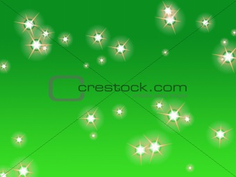 Green sky with stars
