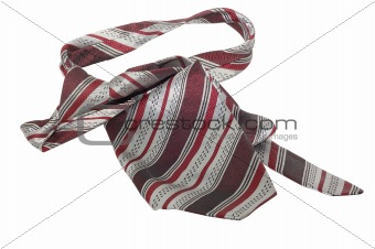 Masculine tie isolated on a white background.