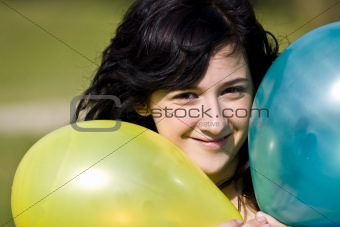 Cutie with balloons