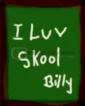 Blackboard Slate with message