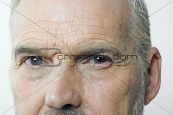 Old man's eyes closeup