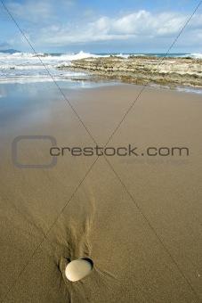 Beach of zumaia, Gipuzkoa (Spain)