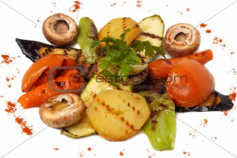 grilled vegetables dish