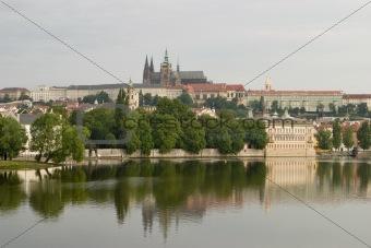 Prague Castle With River
