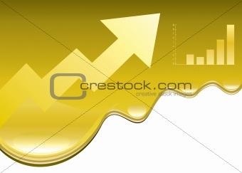 oil Price rising design