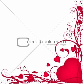 Grunge heart border