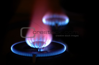 Flames from 2 Stoves