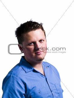 Young Man Portrait Isolated