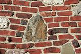 Red brick and stone background