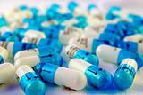 White-blue capsules