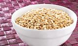 Barley in white bowl