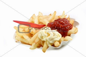 French Fries Red and White
