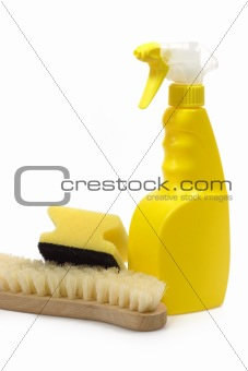 Spray Bottle with Sponge and Brush