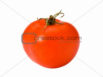 Tomato isolated with clipping path