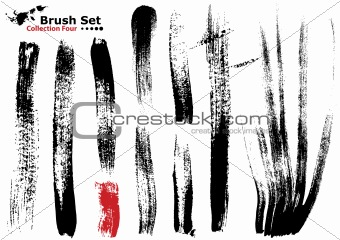 Collection of highly detailed vector brushes - 4