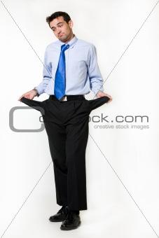 Broke business man