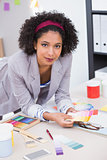 Portrait of female interior designer