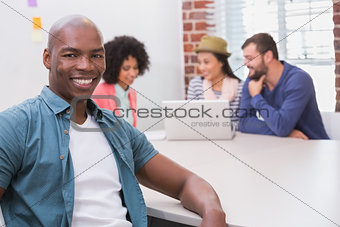 Portrait of man in business meeting