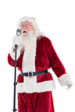 Santa sings like a Superstar