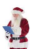 Santa uses a tablet PC