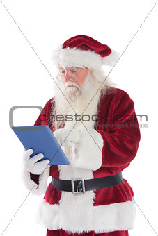Santa uses a tablet PC