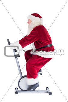 Santa uses a home trainer