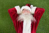 Santa lies, sleeps and has a nice dream