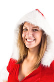 Sexy santa girl smiling at camera