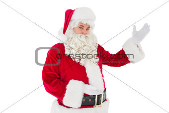Portrait of santa claus showing