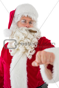 Portrait of santa claus with cigar