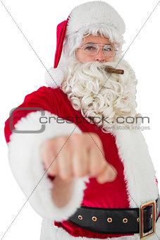 Portrait of santa with cigar