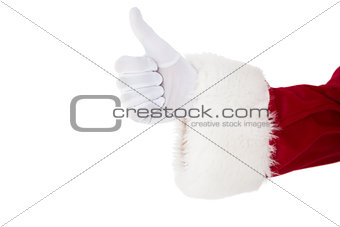 Positive santa claus with thumbs up