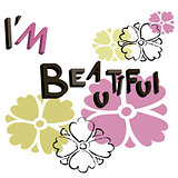 The word I'm Beautiful