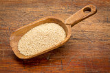 amaranth grain scoop