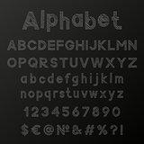 Decorative chalk alphabet