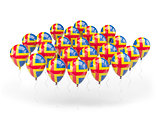 Balloons with flag of aland islands
