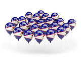 Balloons with flag of american samoa