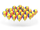 Balloons with flag of andorra