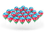 Balloons with flag of azerbaijan