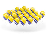 Balloons with flag of bosnia and herzegovina