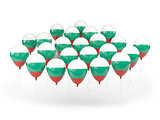 Balloons with flag of bulgaria