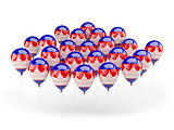 Balloons with flag of cambodia