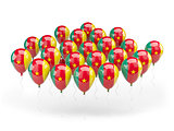 Balloons with flag of cameroon