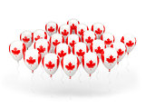 Balloons with flag of canada
